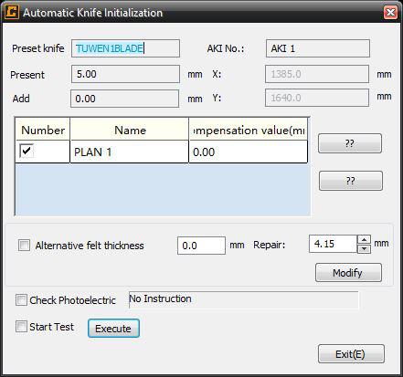 Automatische mesinitialisatie
